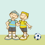 gelukkige tweelingenomhelzing Stock Foto