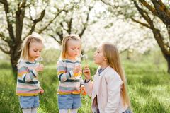 Gelukkige tweelingzusterskinderen royalty-vrije stock foto