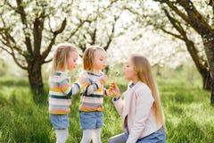 Gelukkige tweelingzusterskinderen royalty-vrije stock foto's
