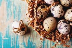 Gelukkige uitstekende en natuurlijke de stijlprentbriefkaar van Pasen Stock Foto