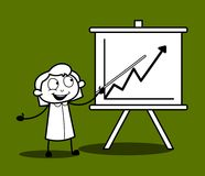 Gelukkige Uitvoerende het Voorstellen Grafiek in Bureauvergadering vector illustratie