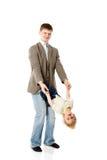 Gelukkige vader stock fotografie