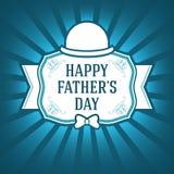 Gelukkige Vader Day Template Het winkelen markeringen en pictogrammen De geïsoleerde Illustratie van de Ornamentgift EPS10 Royalty-vrije Stock Foto's