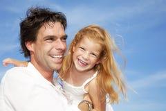Gelukkige vader en dochter Royalty-vrije Stock Afbeeldingen