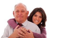 Gelukkige vader en dochter Stock Afbeeldingen