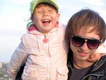 Gelukkige vader en dochter Stock Foto