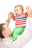 Gelukkige vader met aanbiddelijke baby Royalty-vrije Stock Afbeelding