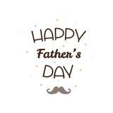 Gelukkige Vader` s dag Vector illustratie Royalty-vrije Stock Afbeelding