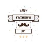 Gelukkige Vader` s dag Vector illustratie Stock Foto's