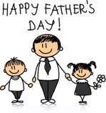 Gelukkige Vaderdag Stock Afbeeldingen