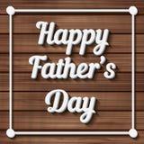 Gelukkige Vaderdag Typografische Achtergrond Stock Afbeelding