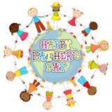 Gelukkige Vaderdagachtergrond Stock Foto's