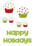 Gelukkige Vakantie Cupcakes Stock Fotografie