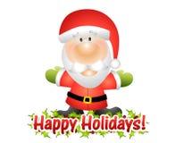 Gelukkige Vakantie de Kerstman vector illustratie