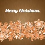 Gelukkige vakantie en het vrolijke ontwerp van de Kerstmiskaart Stock Afbeeldingen