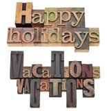 Gelukkige vakantie en vakanties Royalty-vrije Stock Foto's