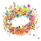 Gelukkige vakantie, grappig frame met baloons royalty-vrije illustratie