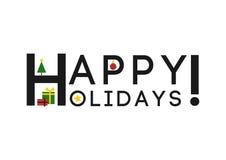 Gelukkige Vakantie! - (Kerstmis) Groetkaart/Achtergrond Stock Foto's
