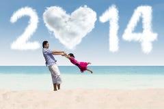 Gelukkige vakantie van het nieuwe jaar 2014 Stock Afbeeldingen