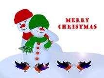 Gelukkige Vakantie, Vrolijke Kerstmis! Stock Foto's
