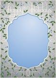 Gelukkige vakantieachtergrond in zilveren en blauwe kleur Stock Fotografie