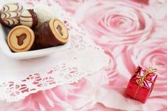 Gelukkige Valentijnskaart Stock Foto's