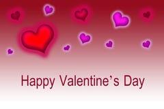 Gelukkige Valentijnskaart Stock Foto