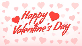 Gelukkige valentijnskaart Royalty-vrije Stock Afbeelding