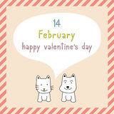 Gelukkige valentijnskaart s dag card9 Stock Foto