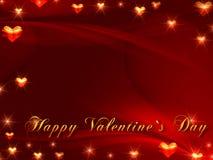 Gelukkige valentijnskaart\ 's dag in rood Royalty-vrije Stock Foto's