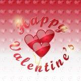 Gelukkige Valentijnskaarten stock illustratie