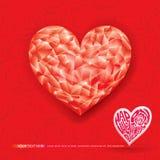 Gelukkige Valentijnskaarten Stock Foto