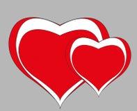 Gelukkige Valentijnskaarten Stock Fotografie
