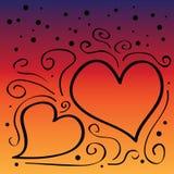 Gelukkige valentijnskaartendag royalty-vrije illustratie
