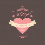 Gelukkige valentijnskaartendag Stock Foto