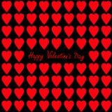 Gelukkige valentijnskaartendag De kaart van de groet Rood en roze hart vastgesteld Naadloos Patroon Verpakkend document, textielm vector illustratie