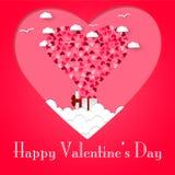 Gelukkige valentijnskaartendag en het wieden van ontwerpelementen Vector illustratie de Roze Achtergrond van de valentijnskaarten royalty-vrije stock foto