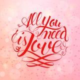 Gelukkige valentijnskaartendag en het wieden van ontwerpelementen Vector illustratie Roze Achtergrond met Ornamenten, Harten Krab Royalty-vrije Stock Afbeeldingen