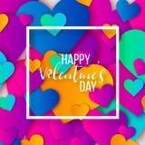 Gelukkige valentijnskaartendag en het wieden van ontwerpelementen Vector illustratie Roze Achtergrond met Ornamenten, Harten Krab Stock Afbeelding