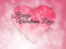 Gelukkige valentijnskaartendag vage bokeh abstracte achtergrond Royalty-vrije Stock Foto's