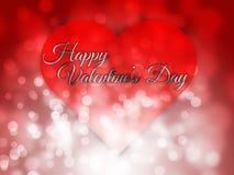 Gelukkige valentijnskaartendag vage bokeh abstracte achtergrond Stock Foto's