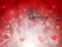 Gelukkige valentijnskaartendag vage bokeh abstracte achtergrond Stock Afbeeldingen