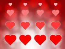 Gelukkige valentijnskaartendag vage bokeh abstracte achtergrond Royalty-vrije Stock Afbeelding