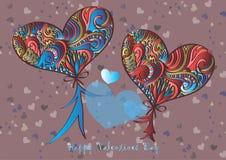 Gelukkige valentijnskaartendag, vectorkaart royalty-vrije stock foto