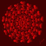Gelukkige valentijnskaartendag, vectorkaart stock illustratie