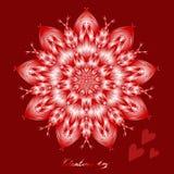 Gelukkige valentijnskaartendag, vectorkaart royalty-vrije illustratie