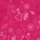 Gelukkige Valentijnskaartentekens op de roze achtergrond Stock Foto