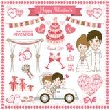 Gelukkige valentijnskaartkaart royalty-vrije illustratie