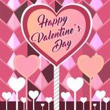 Gelukkige valentijnskaartkaart Stock Afbeeldingen