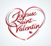 Gelukkige Valentine's-Dag in het Frans: Joyeuse heilige-Valentin stock illustratie
